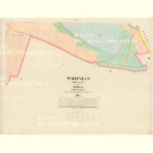 Wodnian - c8719-1-009 - Kaiserpflichtexemplar der Landkarten des stabilen Katasters