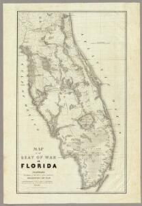 Map Of The Seat Of War In Florida.