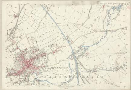 Staffordshire XXII.13 (includes: Market Drayton; Norton In Hales; Tyrley) - 25 Inch Map