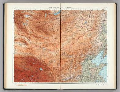 111-112.  Mongolian People's Republic, North China.  The World Atlas.