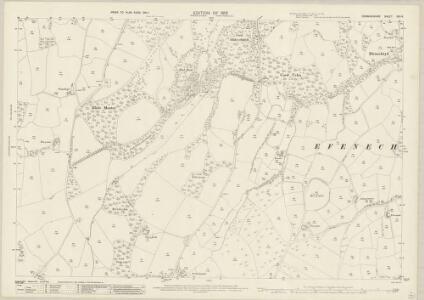 Denbighshire XIX.14 (includes: Clocaenog; Efenechtid; Llanfwrog Rural) - 25 Inch Map