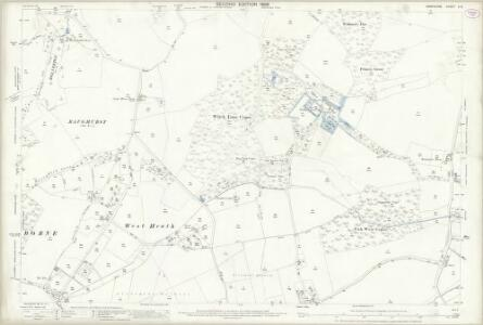Hampshire and Isle of Wight X.6 (includes: Baughurst; Monk Sherborne; Pamber; Tadley; Wootton St Lawrence) - 25 Inch Map