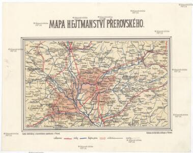 Mapa hejtmanství přerovského