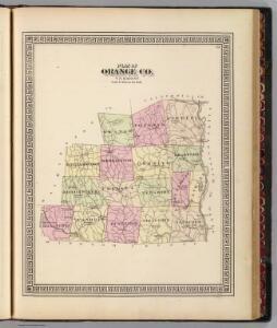 Plan of Orange County, Vermont.