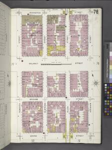 Manhattan, V. 1, Plate No. 78 [Map bounded by Rivington St., Orchard St., Grand St., Forsyth St.]