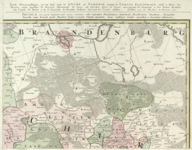 Carte Geographique, ou on fait voir le Dvche de Saxonie nome. le Cercle Electorale :