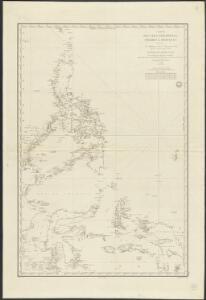 Carte des îles Philippines, Célébes et Moluques