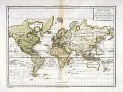Mappe-Monde suivant la projection des cartes réduites