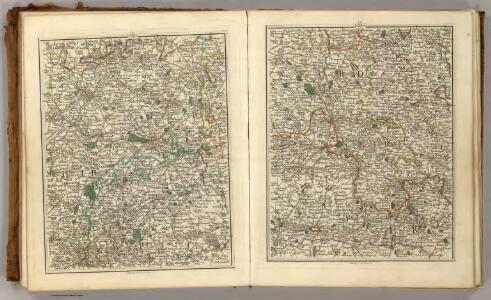 Sheets 23-24.  (Cary's England, Wales, and Scotland).