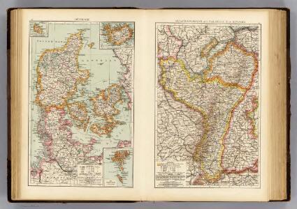 Denmark, Alsace-Lorraine, Palatinate.