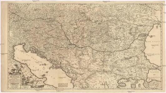 Regni Hungariae, et regionum, quae ei quondam fuere unitae, ut Transilvaniae, Valachiae, Moldaviae, Serviae, Romaniae, Bulgariae, Bessarabiae, Croatiae, Bosniae, Dalmatiae, Sclavoniae, Morlachiae, Ragusanae reipublicae maximaeq[ue] partis Danubii fluminis novissima delineatio
