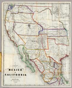 Map Of Mexico & California.