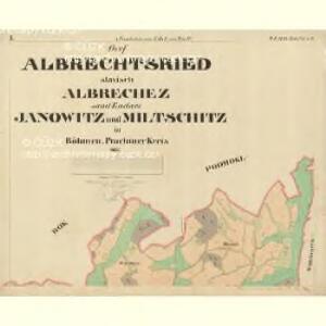 Albrechtsried - c0012-1-001 - Kaiserpflichtexemplar der Landkarten des stabilen Katasters