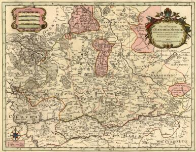 Haute Partie de l'Evesché de Munster subdivisé en ses principales Iuridictios