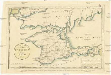 Post Karte von der Halbinsel Taurien oder Krim