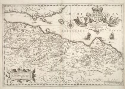 A new description of the shyres Lothian and Linlitquo / T. Pont ; Henricus Hondius excudit.
