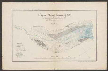 Zunge des Alpeiner Ferners i. J. 1892