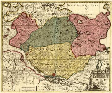 Holsatiae Tabula Generalis in qua sunt Ducatus Holsatiae Ditmarsiae Stormariae et Wagriae