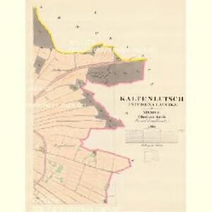 Kaltenlutsch - m2928-1-002 - Kaiserpflichtexemplar der Landkarten des stabilen Katasters