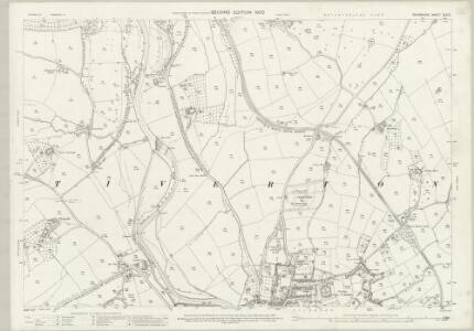 Devon XLV.3 (includes: Tiverton; Washfield) - 25 Inch Map