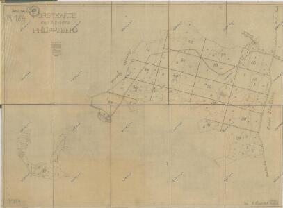Přehledná mapa revíru Filipova Hora