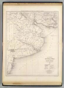 Carte, Province de Buenos-Ayres, regions voisines.