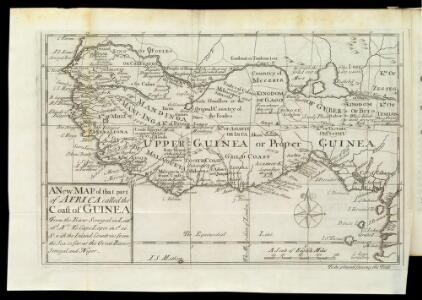 A New Map Of That Part Of Africa Called The Coast Of Guinea