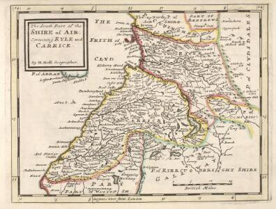 The South Part of the Shire of Air [i.e. Ayr], containing Kyle and Carrick  / by H. Moll.