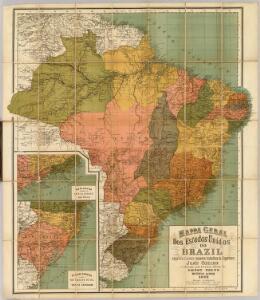 Mappa geral dos Estados Unidos do Brazil.