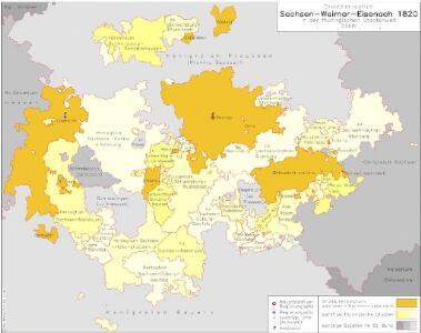 Großherzogtum Sachsen-Weimar-Eisenach 1820 in der thüringischen Staatenwelt
