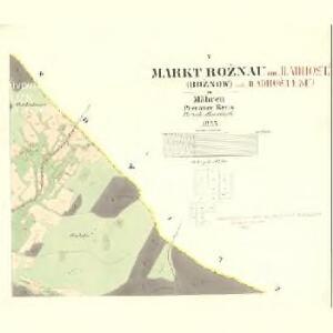 Rožnau (Rožnow) - m2628-1-005 - Kaiserpflichtexemplar der Landkarten des stabilen Katasters
