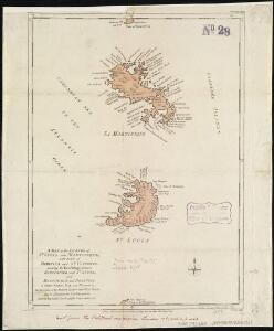 A map of the islands of St. Lucia and Martinique, with part of Dominica and St. Vincents, shewing the two passages between Martinique and St. Lucia, and Martinique and Dominica, to Fort Royal Bay and harbour, the station of the French fleets ...