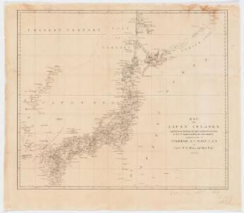 Map of the Japan Islands