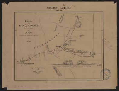 Mission Galliéni 1880-1881. Itinéraire de Kita à Bangassi
