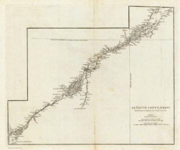 (Canada, Louisiane et Terres Angloises. Southeast section) Le Fleuve Saint-Laurent.