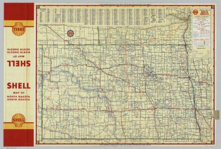 Shell Highway Map of North Dakota.