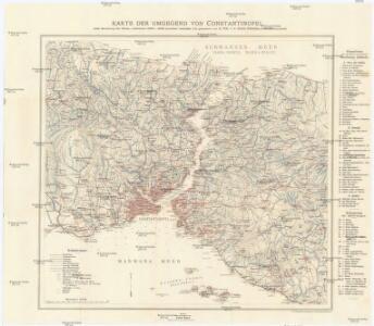 Karte der Umgegend von Constantinopel