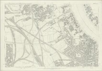 London (First Editions c1850s) LVII (includes: Bermondsey; Borough Of Greenwich; Deptford St Paul) - 25 Inch Map