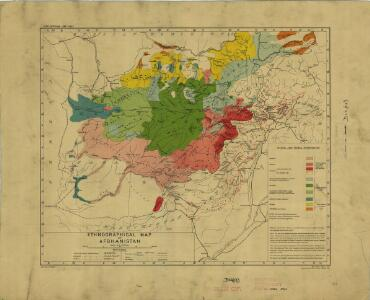 Afghanistan [Ethnographical map of] (1921)