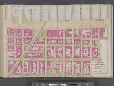 Manhattan, V. 4, Double Page Plate No. 16 [Map bounded by Hudson River, Morton St., Varick St., Vestry St.]
