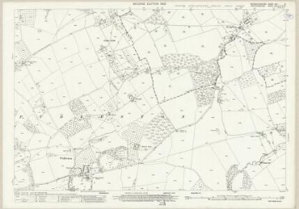 Worcestershire XXV.8 (includes: Bockleton; Hatfield; Pudlestone) - 25 Inch Map