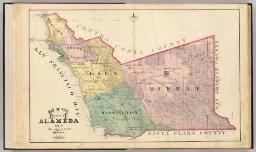 Alameda County map.