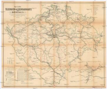 Specielle Telegrafen- und Eisenbahnkarte von Böhmen