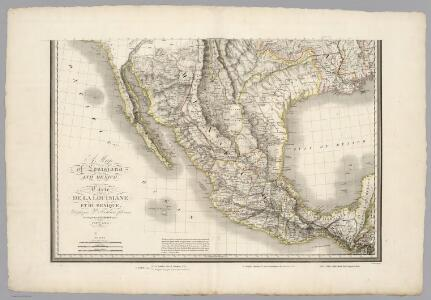 Map of Louisiana and Mexico (southern portion).