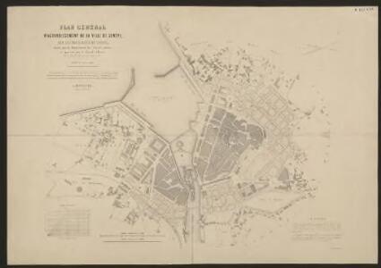 Plan général d'agrandissement de la ville de Genève sur les deux rives du Rhône