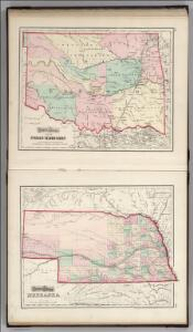 Indian Territory (Oklahoma).  Nebraska.