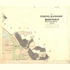Pernlesdorf - c4854-1-002 - Kaiserpflichtexemplar der Landkarten des stabilen Katasters