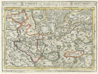 Tübingen mit dero Gegend auf 2 Stud etc.