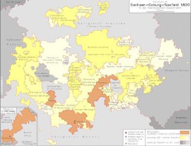 Herzogtum Sachsen-Coburg-Saalfeld 1820 in der thüringischen Staatenwelt