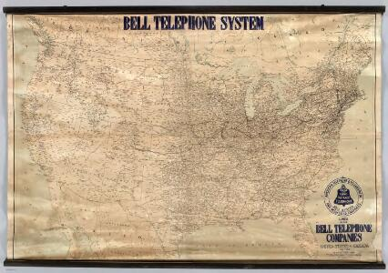 Lines Of The Bell Telephone Companies.  United States And Canada.